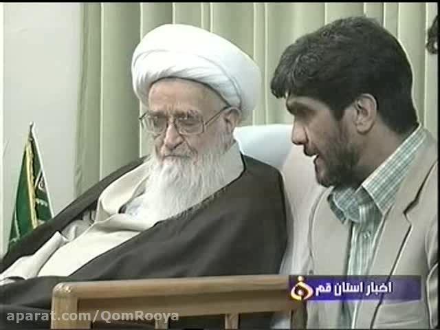 دیدار اعضای جهاد دانشگاهی با آیت الله صافی