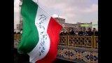 بزرگترین پرچم ایستاده قابل حمل در مشهد راهپیمایی 22 بهمن 91