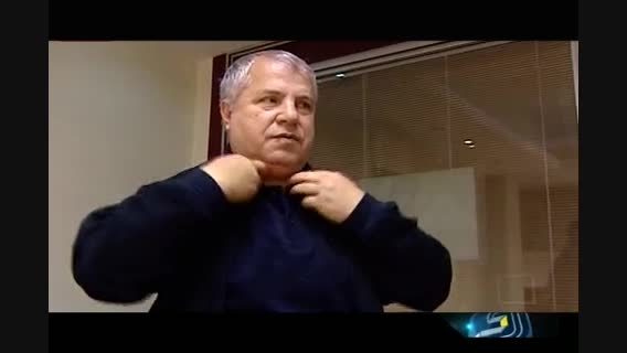واکنش علی پروین بعد از شنیدن تقلید صداش از میناوند