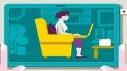 طرز صحیح نشستن پشت رایانه و لپ تاپ