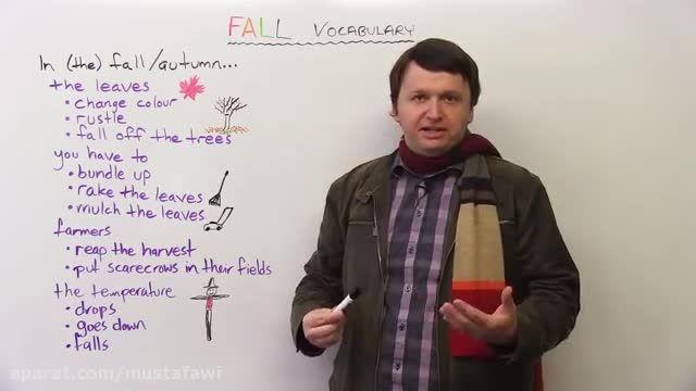 آموزش لغات جدید زبان انگلیسی (صحبت درباره ی پاییز)