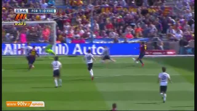 خلاصه بازی: بارسلونا ۲-۰ والنسیا