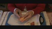 درست کردن قو با سیب-جالب قشنگ