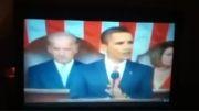 مشاهده خزنده انسان نما در جلسه سخنرانی اوباما