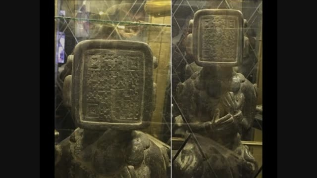 پیدا شدن مجسمه ای با QR کد باستانی در سرزمین مایا ها!!!
