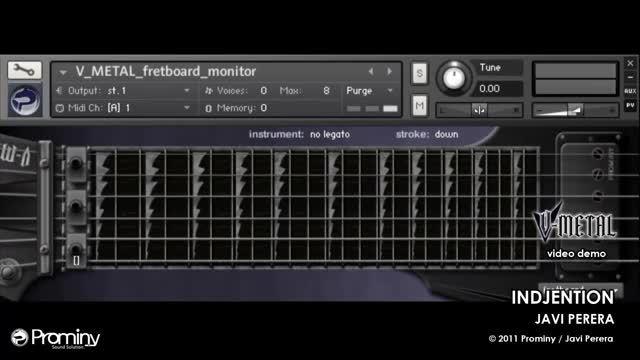 وی اس تی گیتار الکتریکی سبک متال Prominy V-Metal