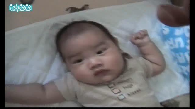 خواباندن نوزاد در 10 ثانیه!