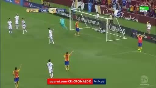 خلاصه بازی : بارسلونا 2 (2) - (4) 2 چلسی (دوستانه)