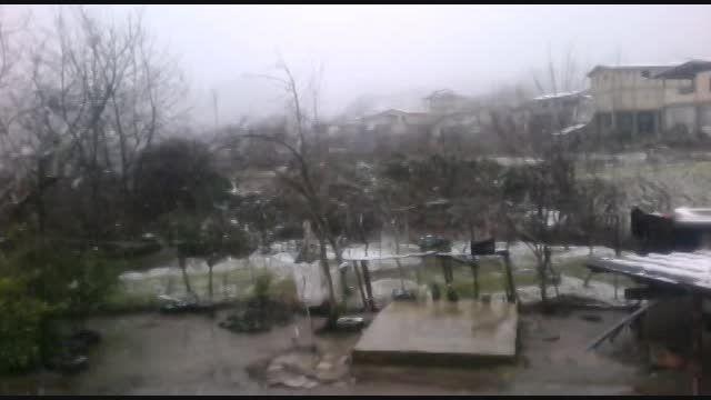 بارش برف در آستارا(دی 93)