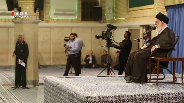 گریه سردار سلیمانی در محضر رهبر انقلاب