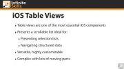 طریقه استفاده از جدول در برنامه نویسی iOS