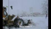 بارش برف سنگین فریدونشهر