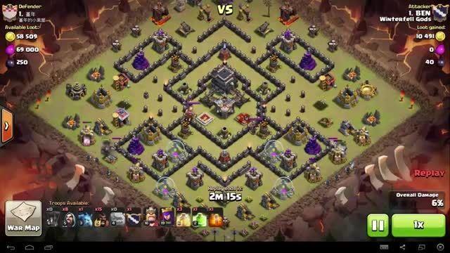 Clash of Clans - TH9 - GoHo - War 66 - BEN vs #1