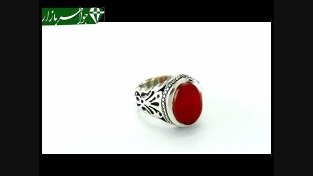 انگشتر عقیق سرخ یمنی دست ساز مردانه - کد 6447