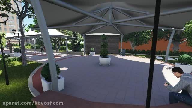 کاوشکام - سقف چادری رستوران و کافی شاپ - آلاچیق چادری