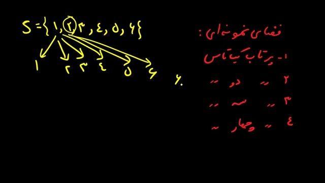 ریاضی سوم تجربی - فصل اول درسنامه اول ( فضای نمونه ای )