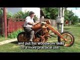 موتورسیکلت تمام چوبی