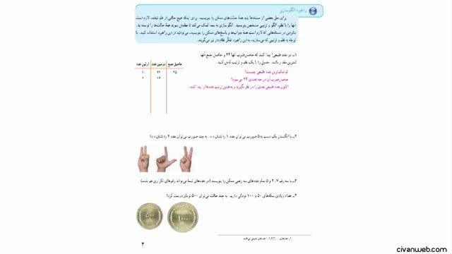 حل تمرین 1 صفحه 3 کتاب ریاضی پایه هفتم