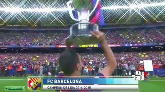 جشن قهرمانی بارسلونا