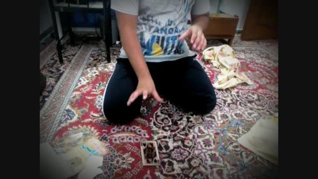 شعبده بازی با کارت - شناور شدن کارت(توسط خودم)