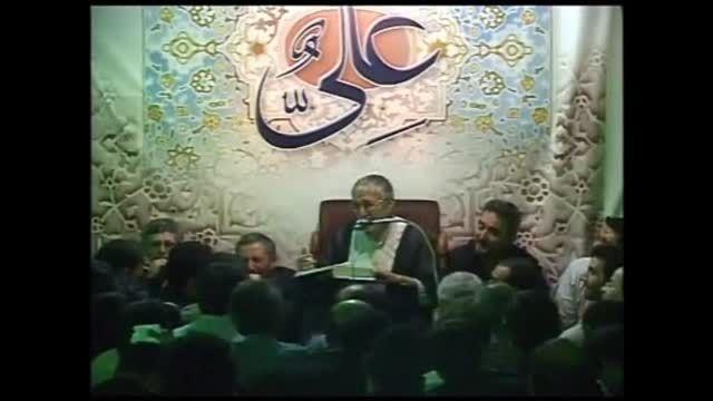 حاج منصور ارضی.روضه بسیاراشک آور امام حسین(ع)
