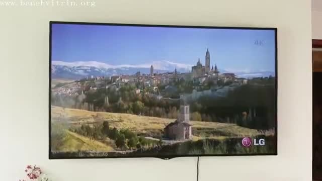 تلویزیون ال ای دی سه بعدی منحنی فورکای ال جی UC970