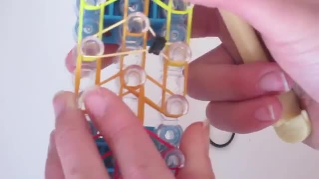 Rainbow loom-gymnast action figure