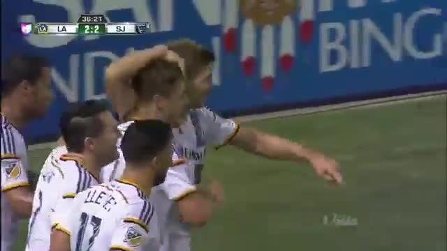 اولین گل استیون جرارد در MLS (سن خوزه 2 - 2 لس آنجلس)