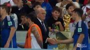 مراسم اهدای جام به آلمان قهرمان جام جهانی 2014