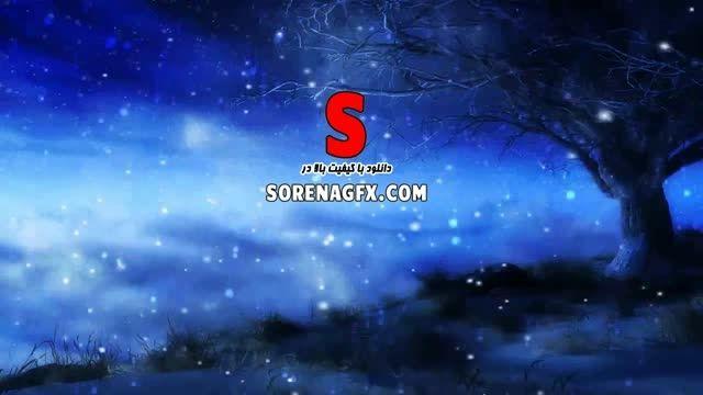 دانلود فوتیج انیمیشن بارش برف در شب زمستانی