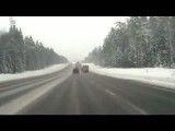 تصادف وحشتناک در جاده برفی