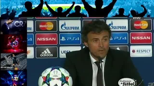 کنفرانس خبری لوئیز انریکه بعد از بازی یوونتوس