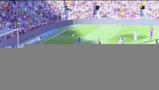 گل اول : بارسلونا 1 - 0 رئال سوسیداد (نیمار)