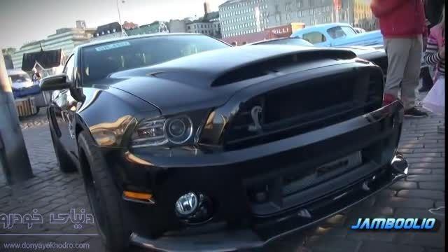 سوپر خودروی شلبی 850 اسب بخاری بارنگ مشکی