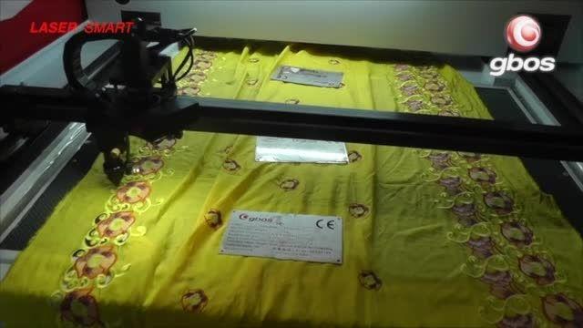 دستگاه لیزر  برش حاشیه پارچه های تزئینی و گلدوزی شده