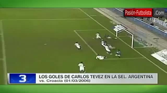 تمام 13 گل کارلوس توز در تیم ملی آرژانتین 2004/13