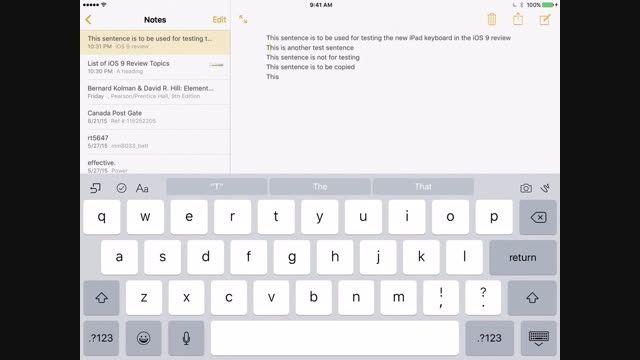 بررسی iOS 9 و کیبوردی که به ترک پد تبدیل می شود