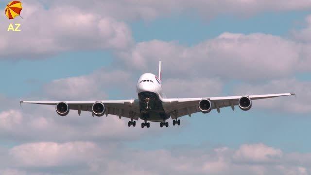 فرود هواپیمای ایرباس A380