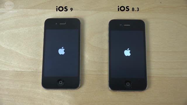 تست سرعت سیستم عاملهای iOS 9 Beta و iOS 8.3 در آیفون 4S
