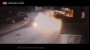 انفجار وحشتناک مخزن گاز ماشین...!