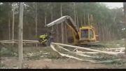 پیشرفته ترین ماشین چوب بر - حتما ببینید خیلی قشنگه