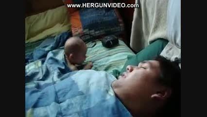 ترسیدن پسر بچه هنگام خواب پدر