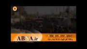 ورود اولین دسته عزاداری مردم عراق به منطقه جرف الصخر