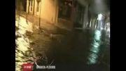 جاری شدن سیل در یونان