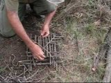 Building and setting an arapuca live bird trap - YouTube