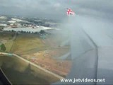 A340 landing at JNB - great condensation