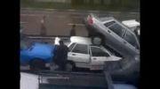 تصادف چند پراید در اصفهان