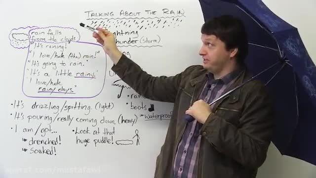 آموزش لغات جدید زبان انگلیسی ( صحبت درباره ی باران )