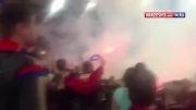 نبر طرفداران زسکا و آاس رم با آتش