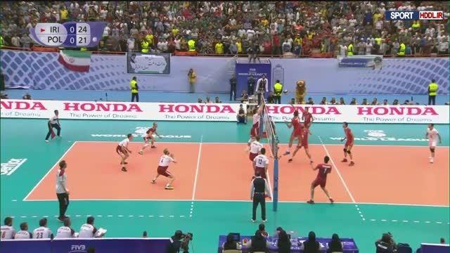 دانلود خلاصه بازی والیبال ایران و لهستان 3-2